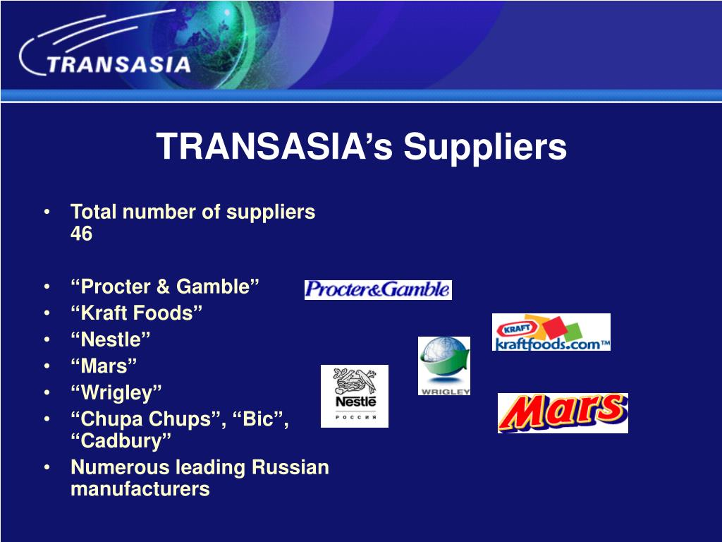 TRANSASIA's Suppliers