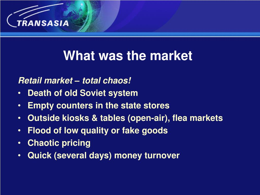 What was the market