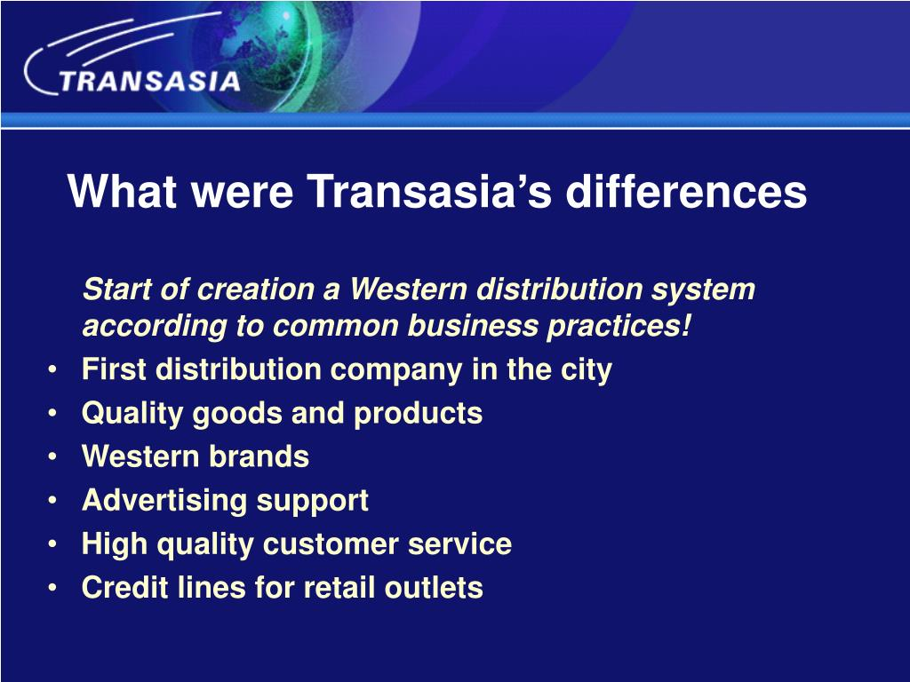 What were Transasia's differences
