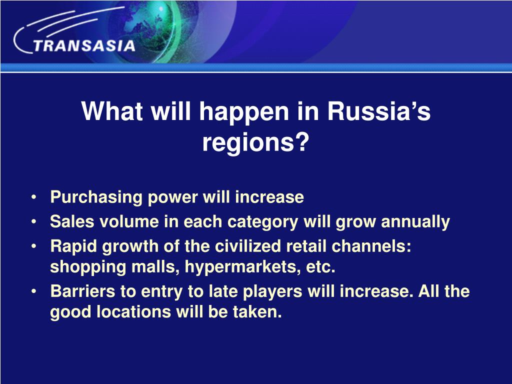 What will happen in Russia's regions?