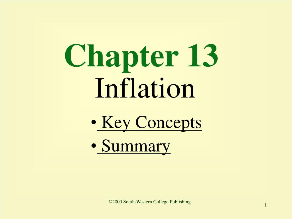 chapter 13 inflation