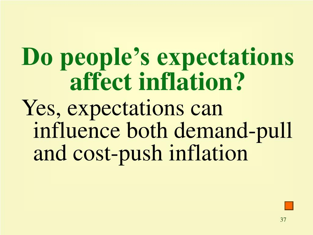 Do people's expectations affect inflation?