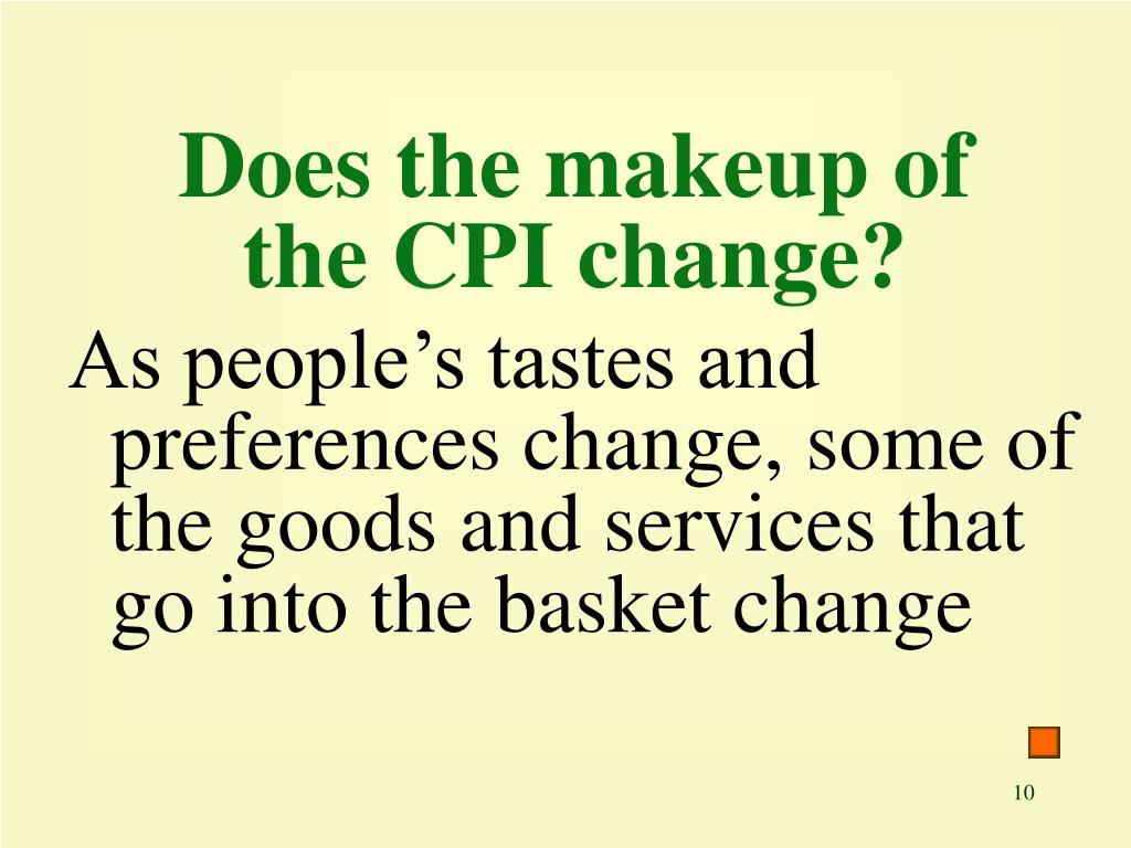 Does the makeup of the CPI change?