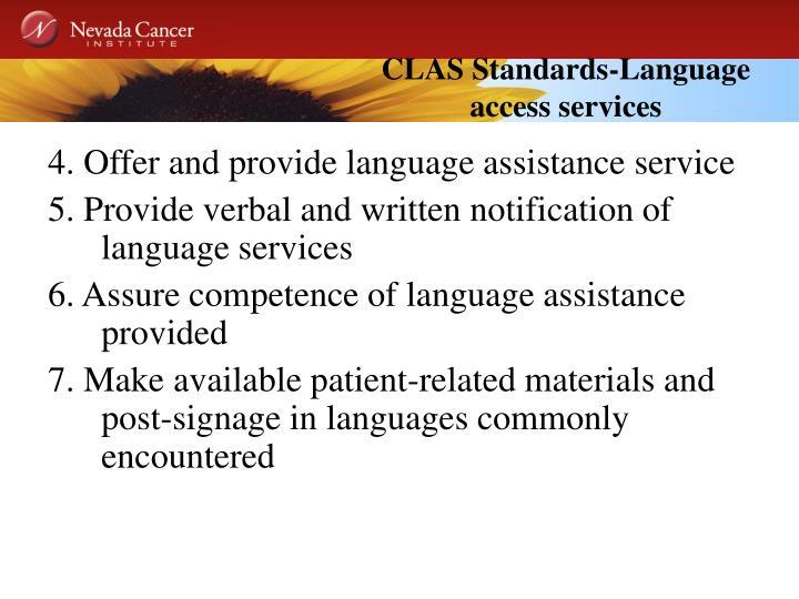 CLAS Standards-Language access services