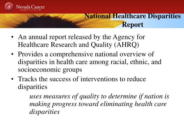 National Healthcare Disparities Report