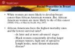 racial disparities in breast cancer