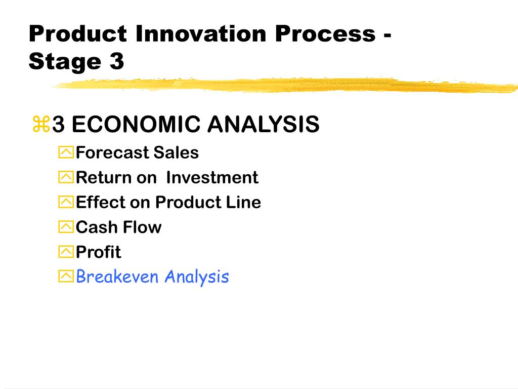 Product Innovation Process - Stage 3