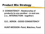 product mix strategy27