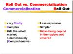 roll out vs commercialization commercialization r oll out