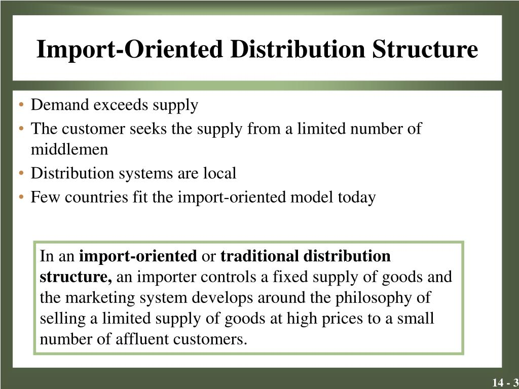 Import-Oriented Distribution Structure