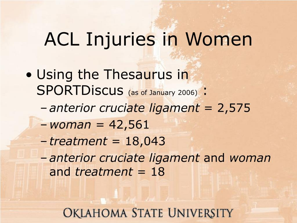 ACL Injuries in Women