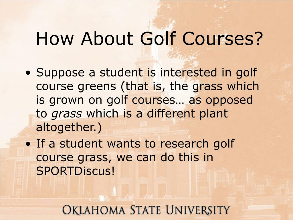 How About Golf Courses?