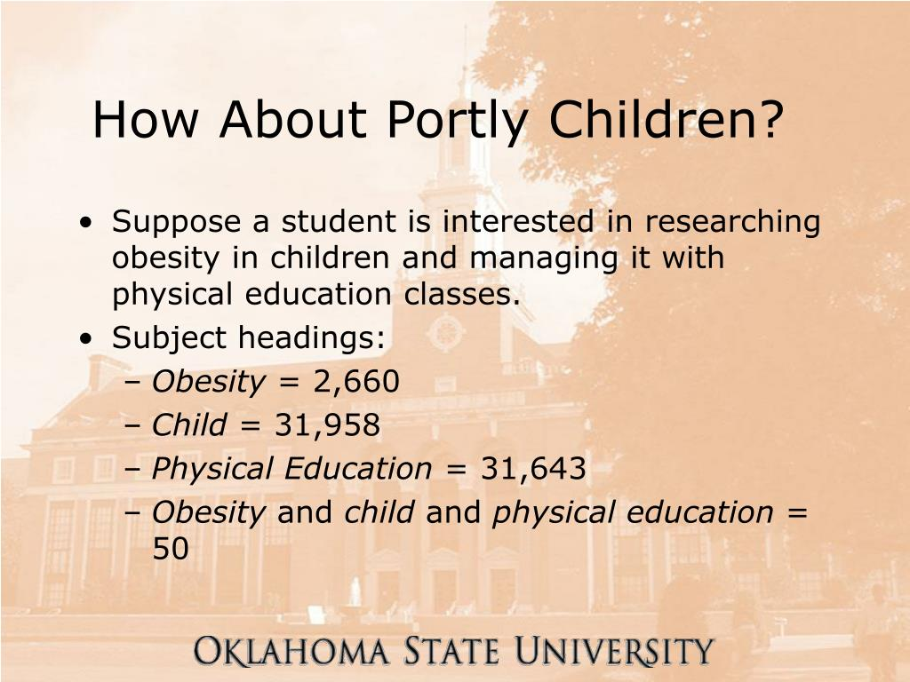 How About Portly Children?
