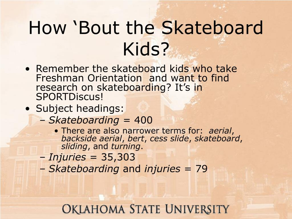 How 'Bout the Skateboard Kids?