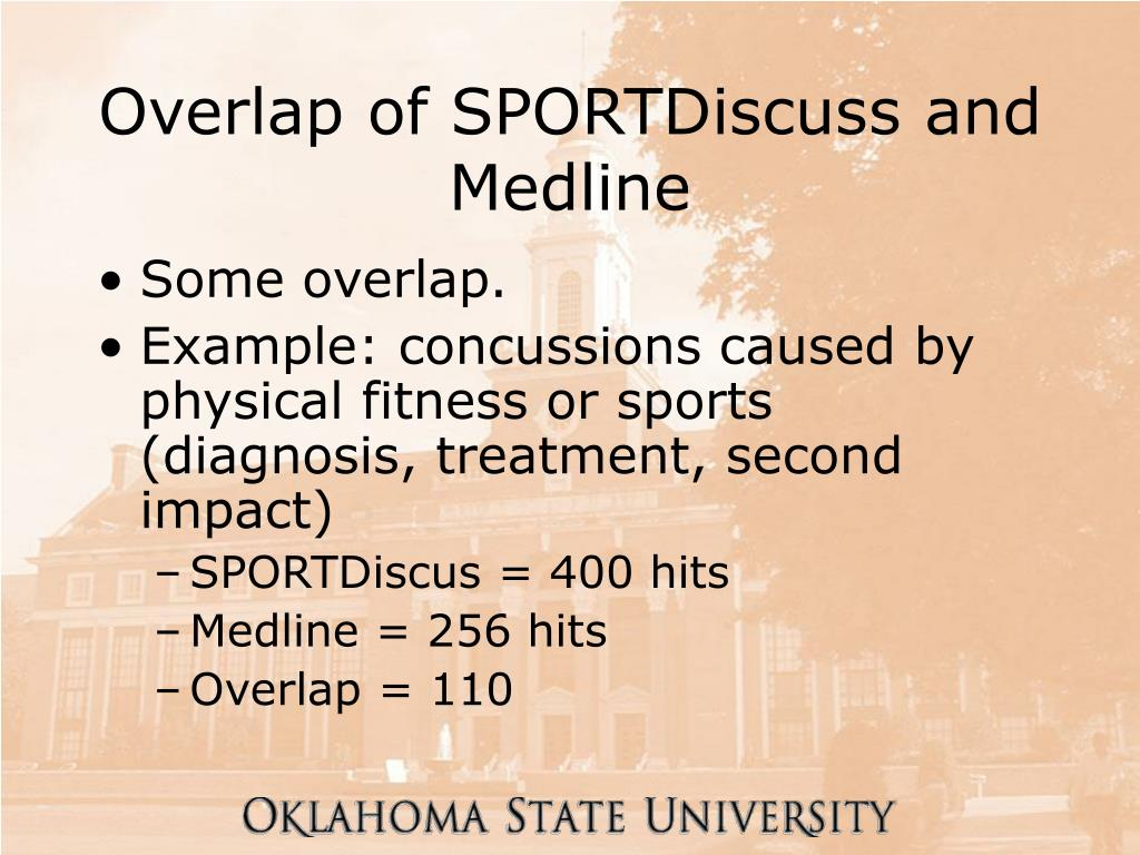 Overlap of SPORTDiscuss and Medline