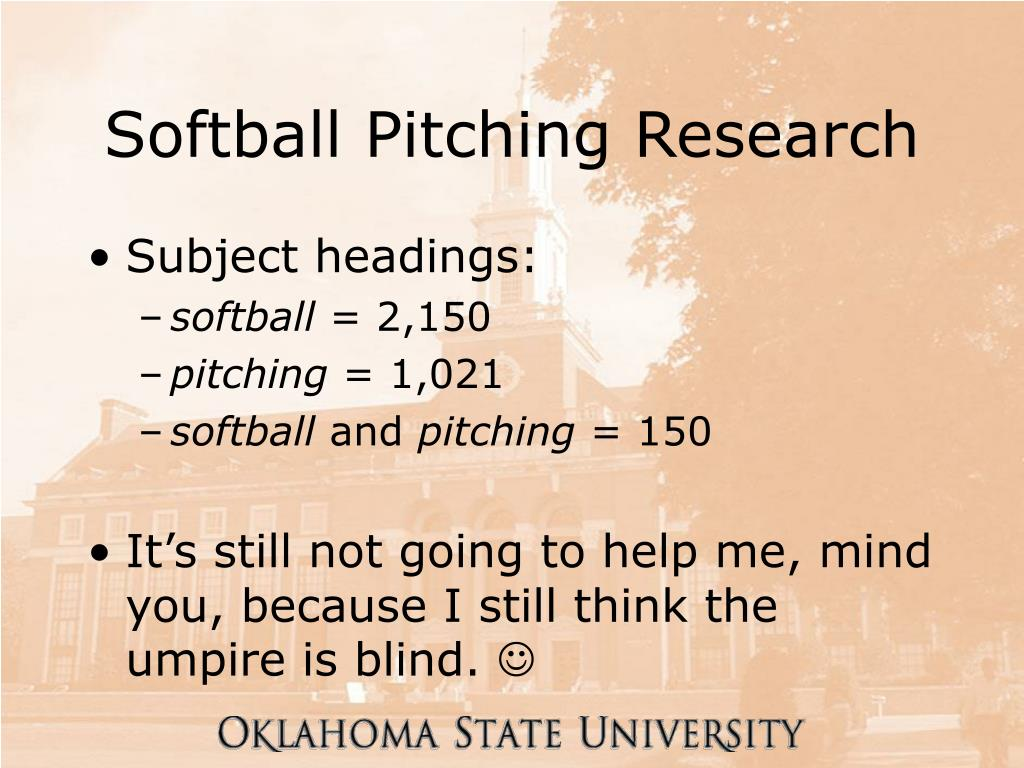 Softball Pitching Research