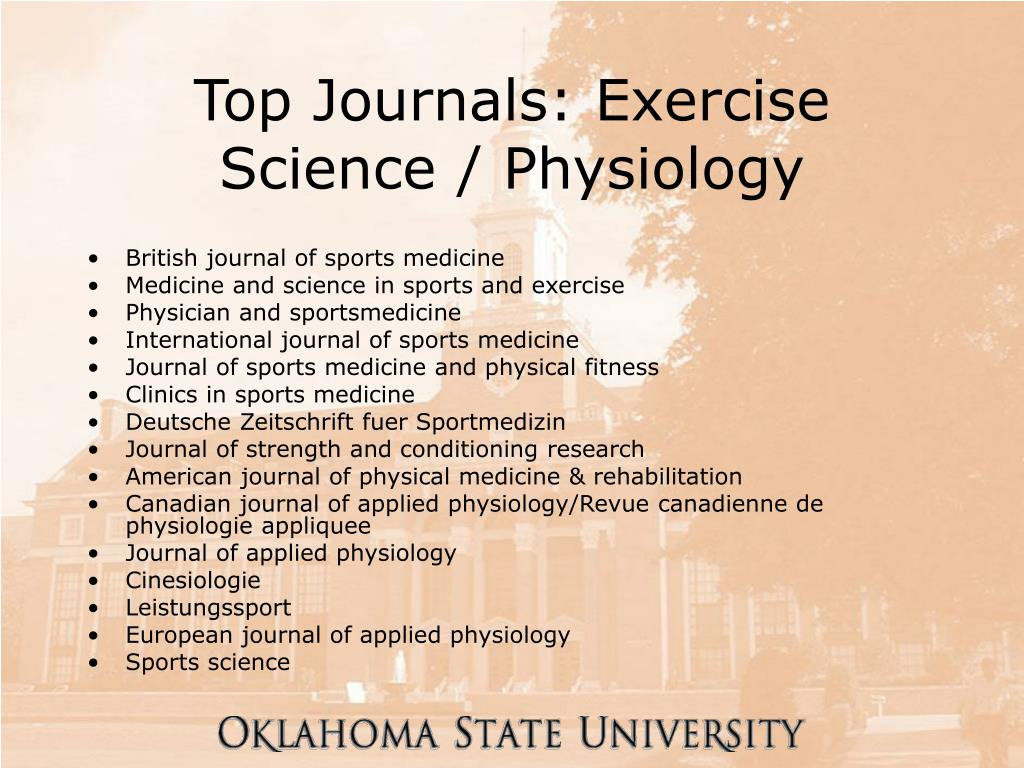 Top Journals: Exercise Science / Physiology