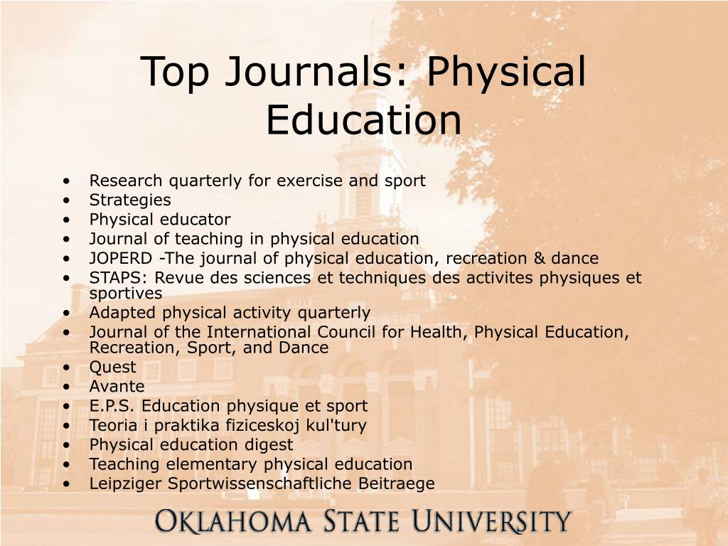 Top Journals: Physical Education