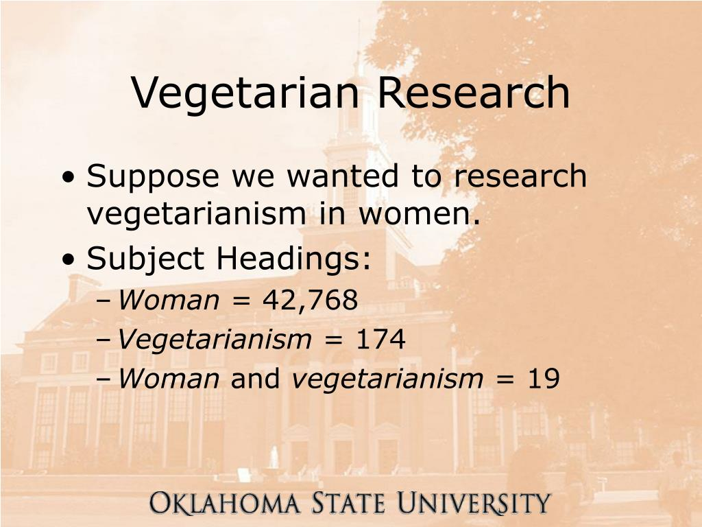 Vegetarian Research