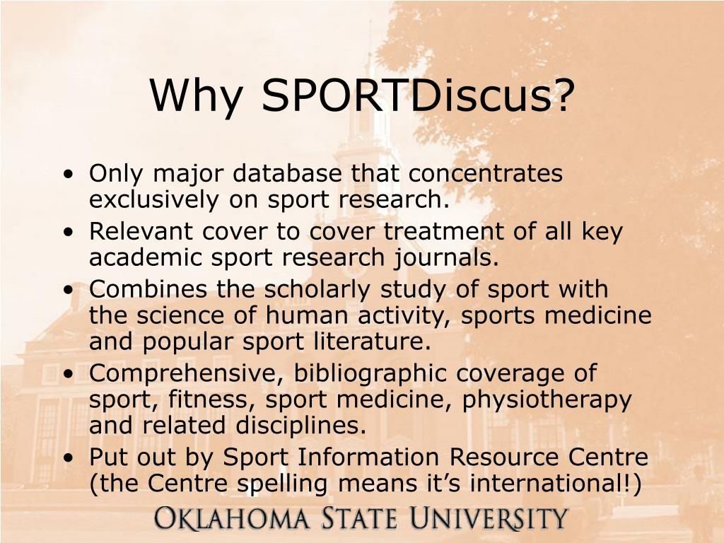 Why SPORTDiscus?