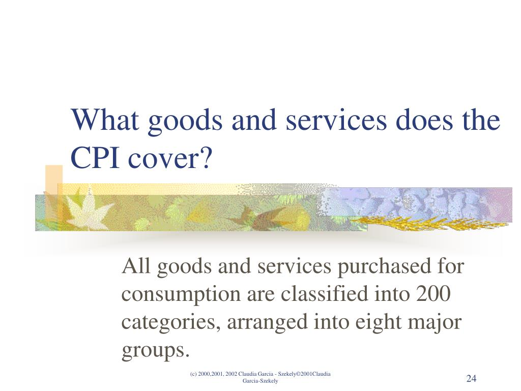 What goods and services does the CPI cover?