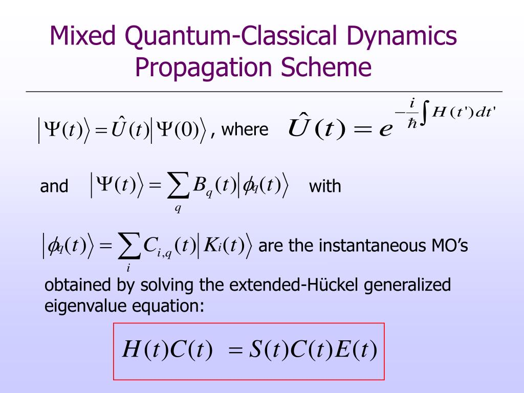 Mixed Quantum-Classical Dynamics Propagation Scheme
