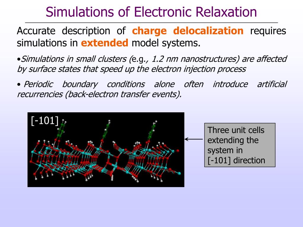Simulations of Electronic Relaxation