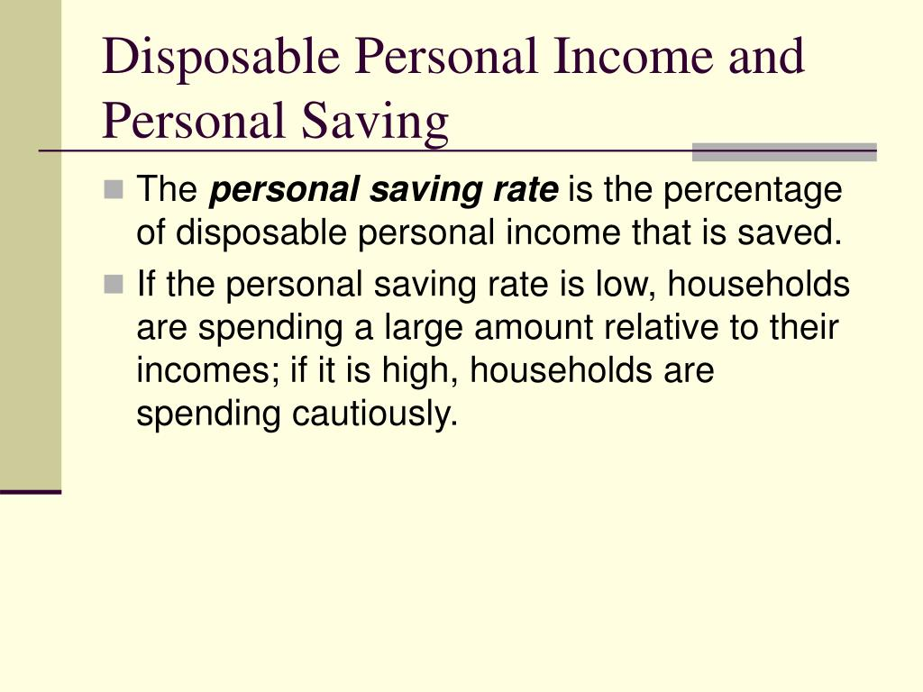 Disposable Personal Income and Personal Saving