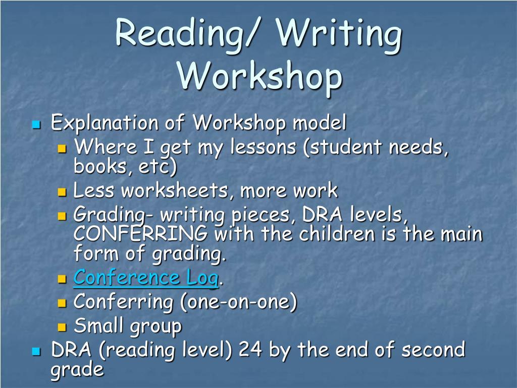 Reading/ Writing Workshop