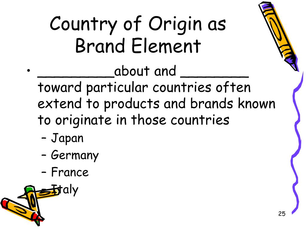 Country of Origin as Brand Element