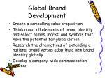 global brand development21