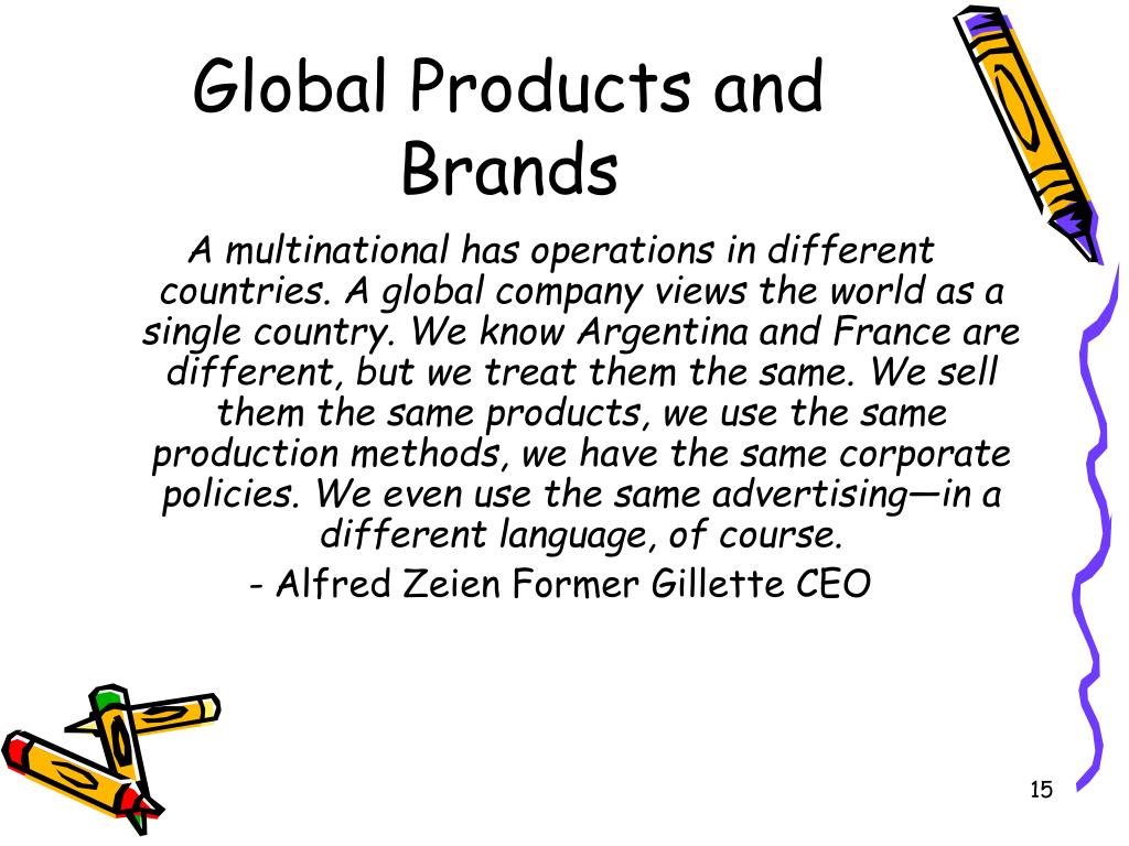Global Products and Brands