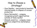 how to choose a strategy36