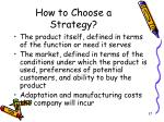 how to choose a strategy37