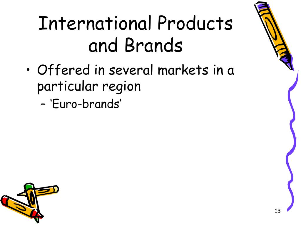 International Products and Brands