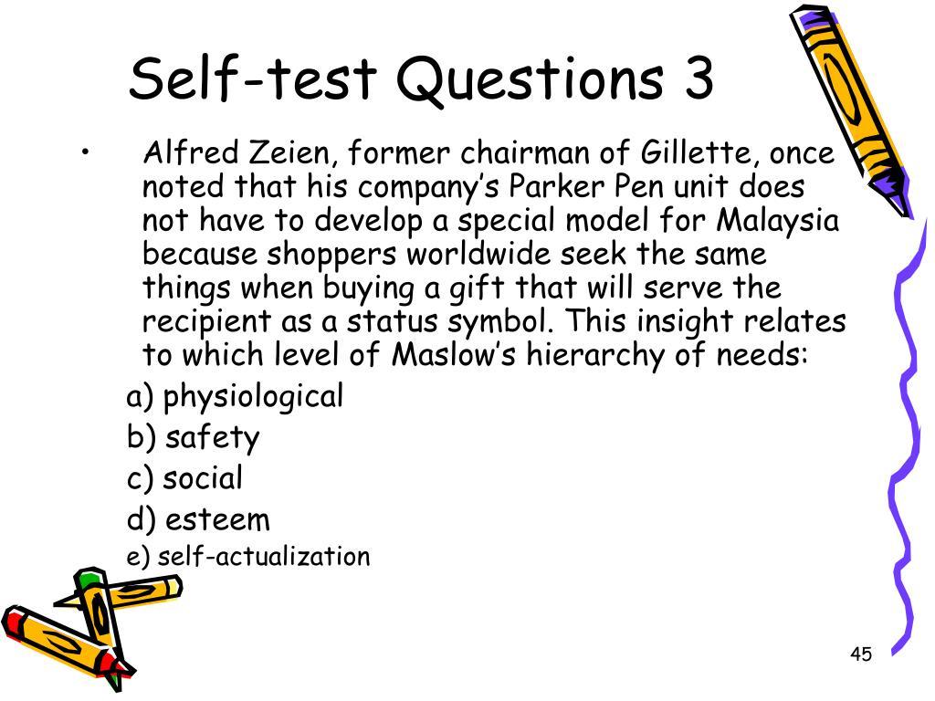Self-test Questions 3