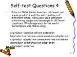self test questions 4