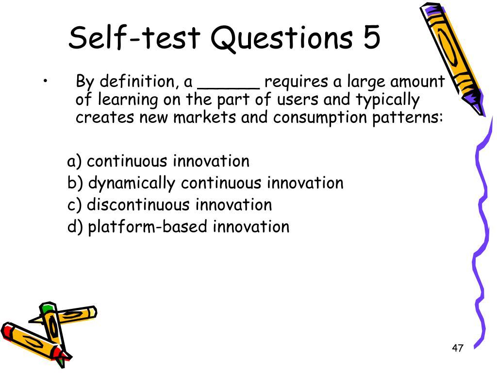 Self-test Questions 5