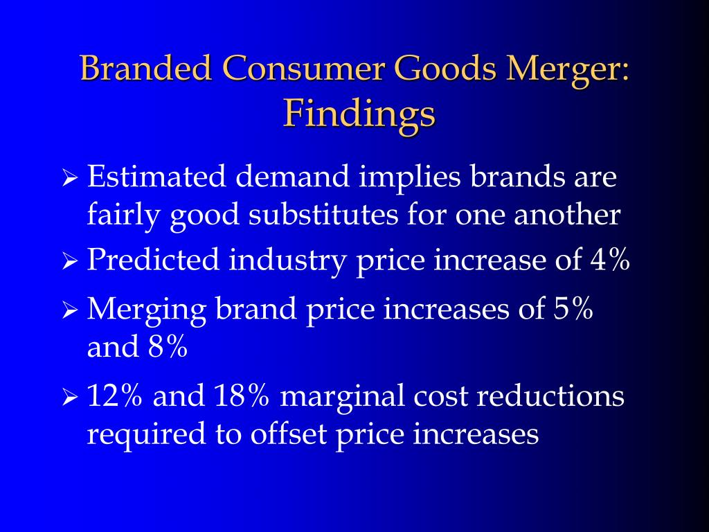 Branded Consumer Goods Merger: