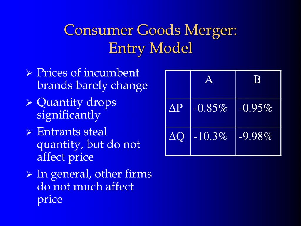 Consumer Goods Merger: