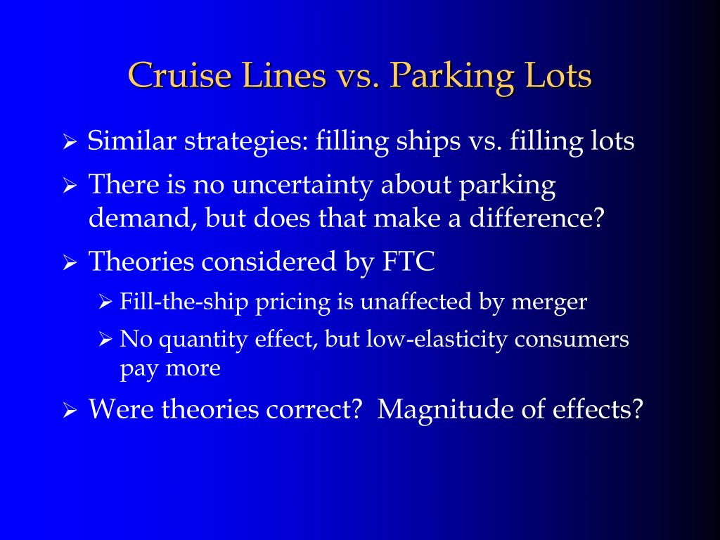 Cruise Lines vs. Parking Lots