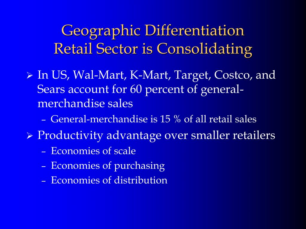Geographic Differentiation