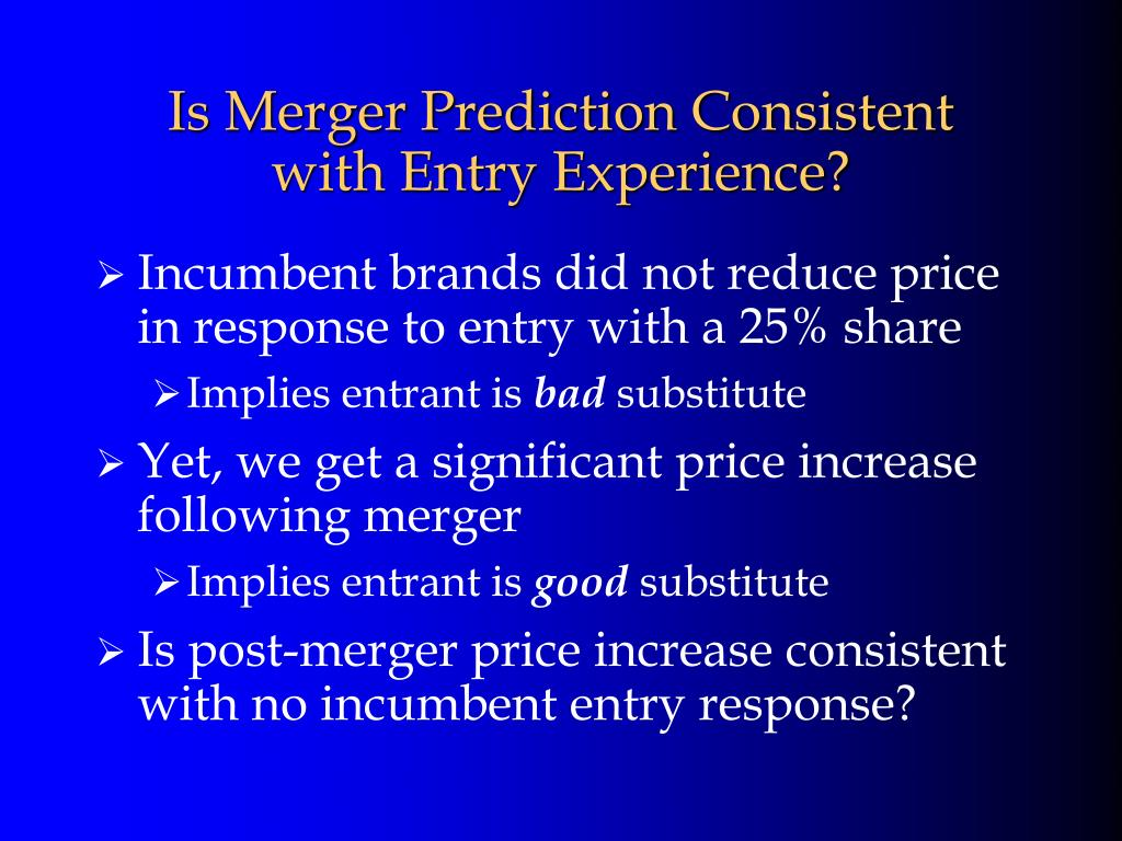 Is Merger Prediction Consistent