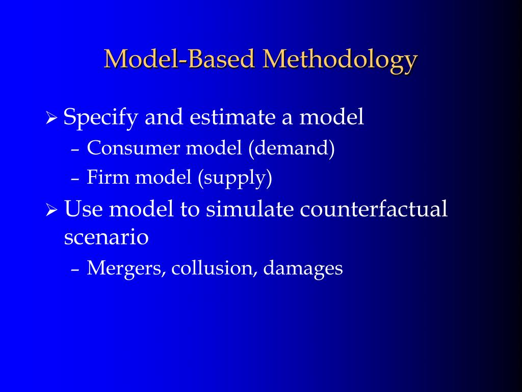 Model-Based Methodology