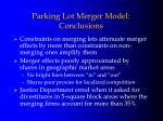 parking lot merger model conclusions