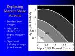 replacing market share screens