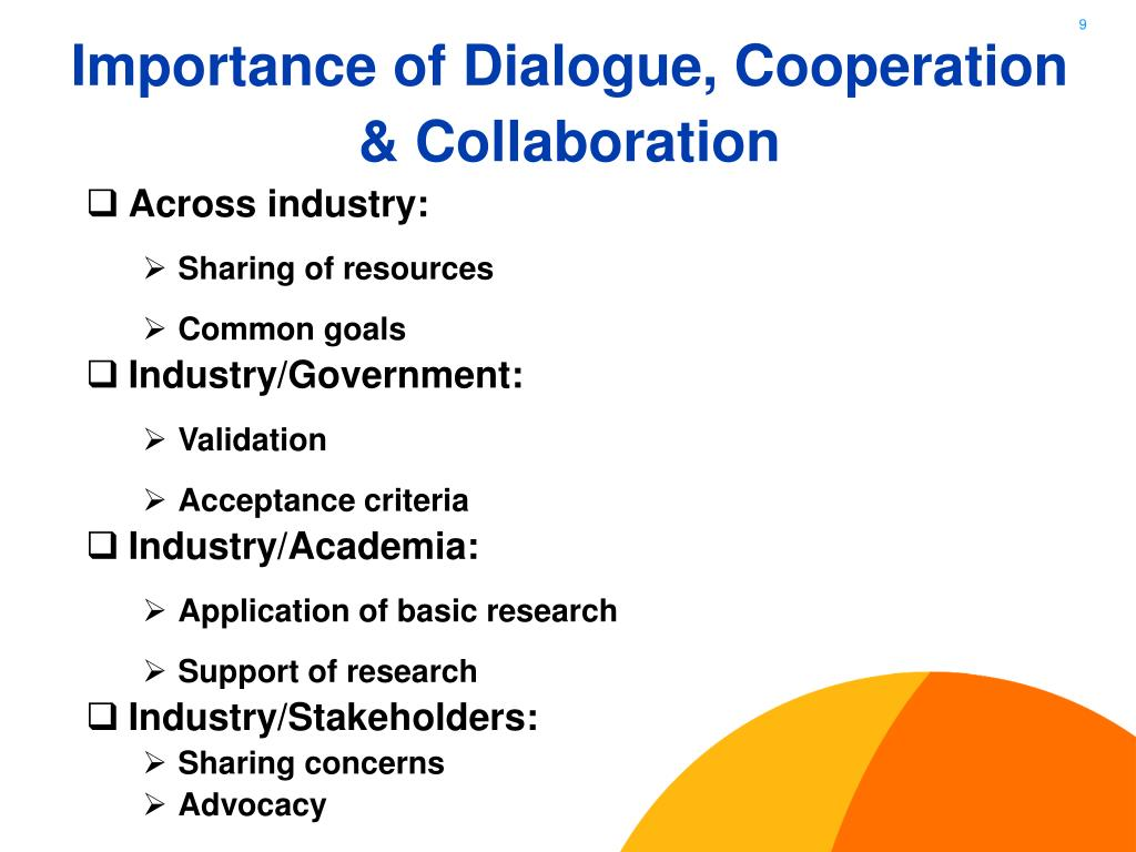 Importance of Dialogue, Cooperation & Collaboration