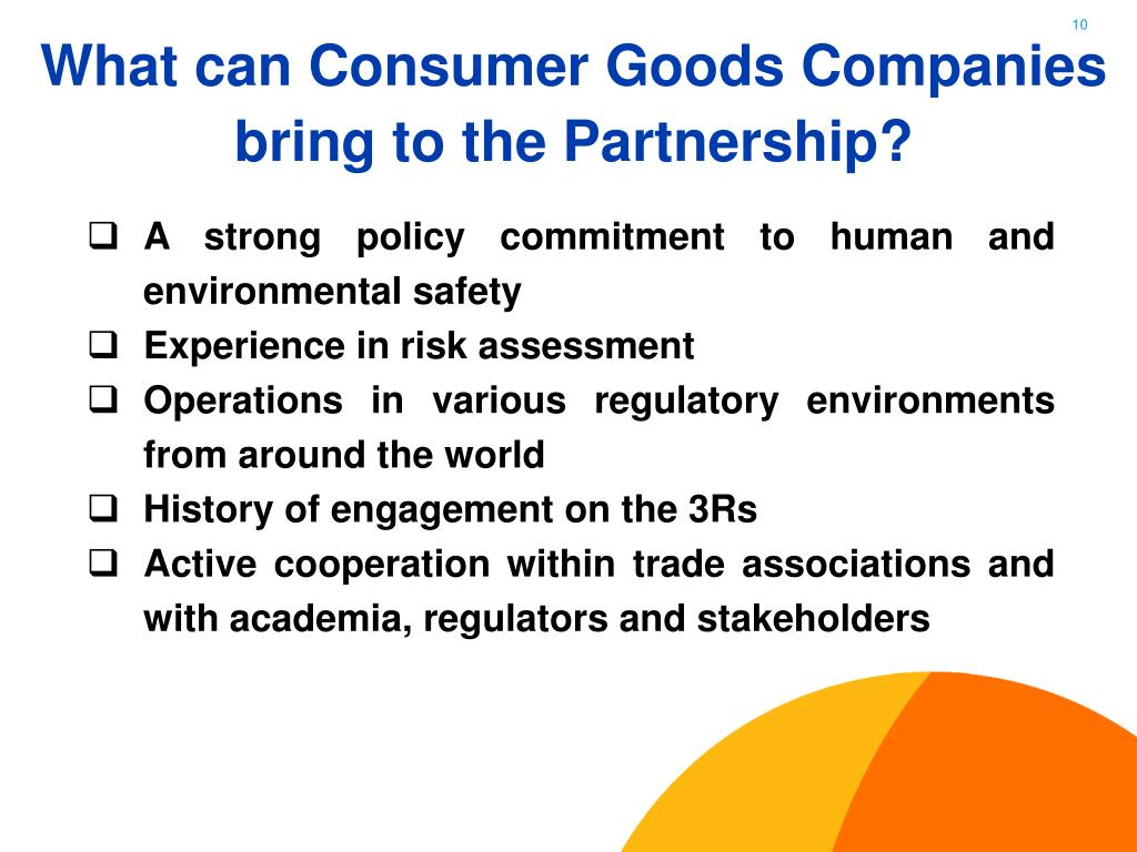 What can Consumer Goods Companies bring to the Partnership?