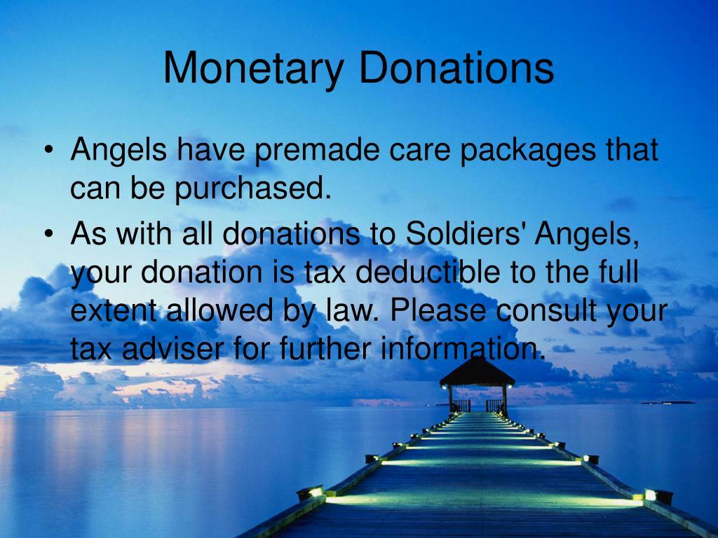 Monetary Donations