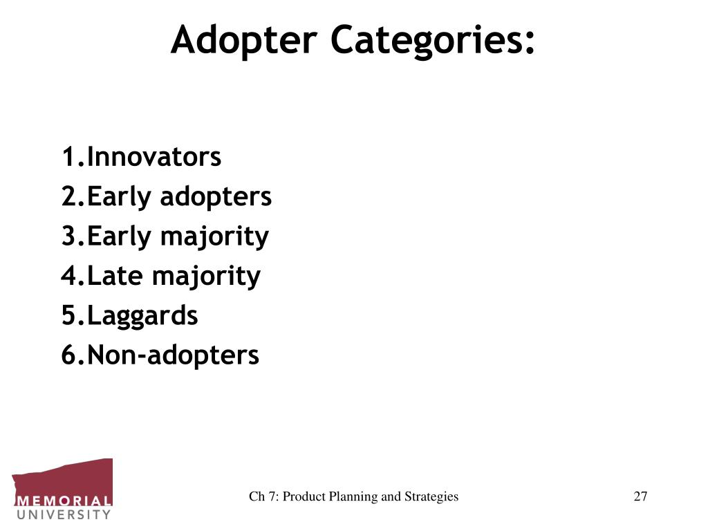 Adopter Categories: